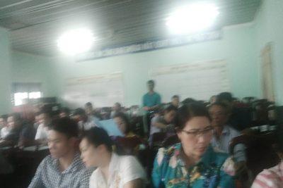 Tập huấn và bàn giao trang thông tin điện tử cho các trường tiểu học trong toàn huyện.