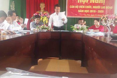 Hội nghị cán bộ viên chức,  người lao động năm học 2019-2020